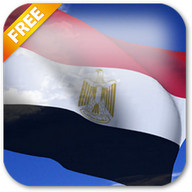 3D Egypt Flag Live Wallpaper