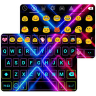 Electric Neon Emoji Keyboard