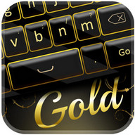 Elegant Gold Keyboard