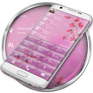 Dialer theme Pink Flower Glass