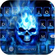 Flaming Skull Tastaturthema