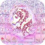 Glitter Unicorn テーマキーボード
