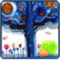 GO SMS Blue Tree Theme