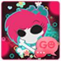 GO SMS Emo Skull Theme