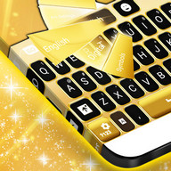 Neon Gold Keyboard Theme