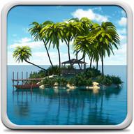 جزيرة الجنة خلفية حية