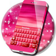 Pink Keyboard Heart Glow Theme