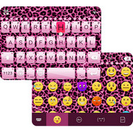 Pink Cheetah Emoji Keyboard