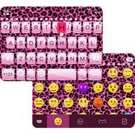 Pink Cheetah Emoji Keyboard
