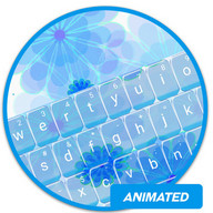 Animated Blue Flower Keyboard