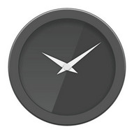Glass clock widget B -Me Clock
