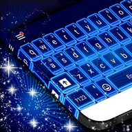 Neon Blue Theme for Keyboard