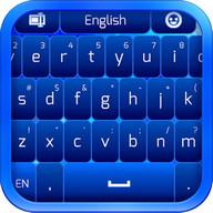 Einfache blaue Tastatur