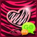 GO SMS Pink Zebra Theme