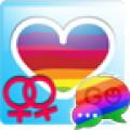 GO SMS Pro Rainbow Theme Free