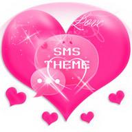 Tema Cinta Pink GO SMS Pro