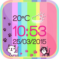 Kitty Weather Clock