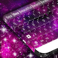 Pink Galaxy Keyboard