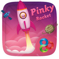 Pinky Rocket GO Launcher Theme