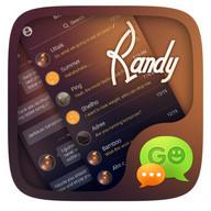 (FREE) GO SMS PRO RANDY THEME