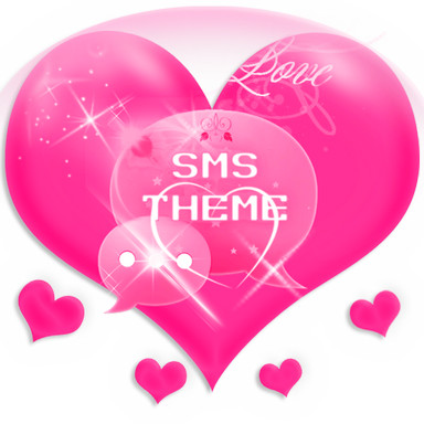 Pink Love Theme GO SMS Pro Android App APK (com gosms theme pink