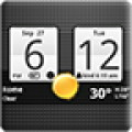 Sense Analog Clock Widget - A clock widget with a calendar, weather, and climate information