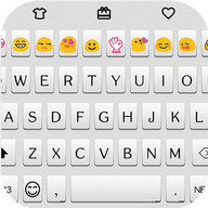 Simple White Emoji Keyboard