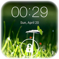 Spring live wallpaper lock