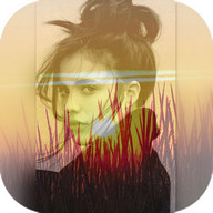 Square Blend Pic Collage-Sunset photo editor