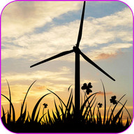 Sunset Windmill Live Wallpaper