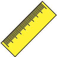 Righello (cm, inch)