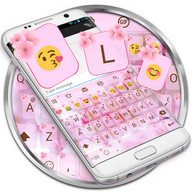 Love Cherry Valentine Emoji Keyboard Theme