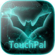 TouchPal Dark Neon Green Theme