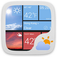 W8 Style Weather Widget Theme