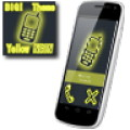 BIG! caller ID Theme Neon Yellow