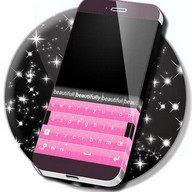 Black and Pink Keyboard Theme