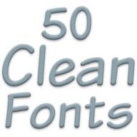 Fonts for FlipFont 50 Clean