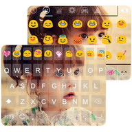 Cute Photo Emoji Keyboard Skin