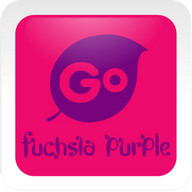 Fuchsia Purple Go Keyboard