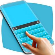 Blaue Pastellthema-Tastatur