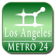 Los Angeles, USA (map for Metro24)