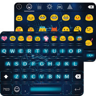 Neon Circuit Emoji Keyboard