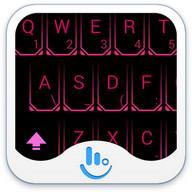 TouchPal Neon Pink Theme