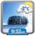 Winter Weather Clock Widget