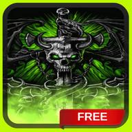 Dragon Skull Flames Live Wallpaper Theme LWP