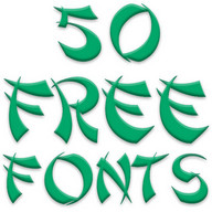 Free Fonts 50 Pack 7