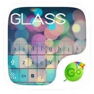 Free Z Glass GO Keyboard Theme - A transparent keyboard made especially for GO Keyboard