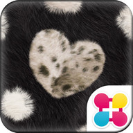 Chic Theme FUR HEART -BLACK-