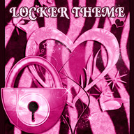 Zebra Heart Pink GO Locker