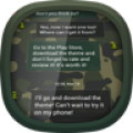 GO SMS Army Camouflage Theme